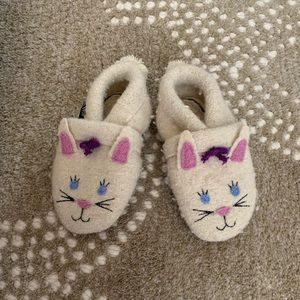 Garnet Hill Baby Boiled Wool Slippers Bunny
